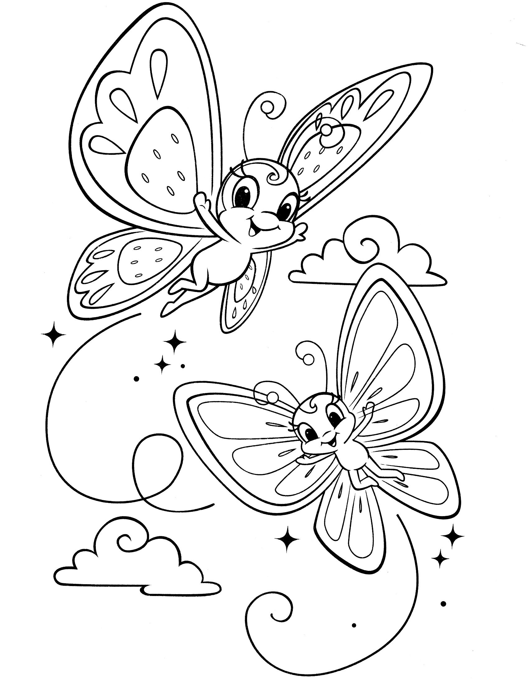 baby butterfly coloring pages cartoon butterfly pics clipartsco pages coloring baby butterfly