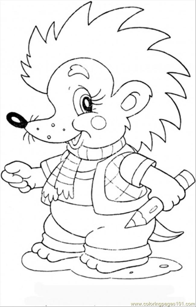 Baby hedgehog coloring pages