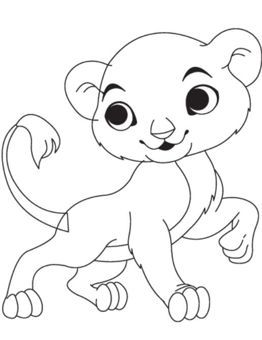 baby lion coloring pictures baby lion coloring page animal place lion pictures baby coloring