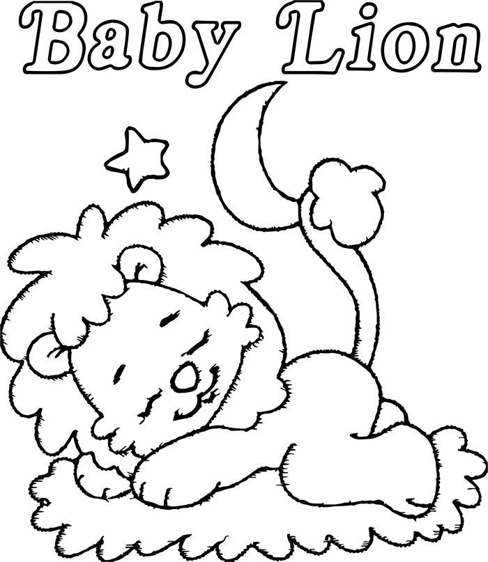 baby lion coloring pictures baby simba coloring pages getcoloringpagescom lion pictures baby coloring