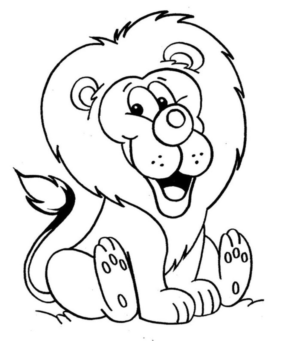 baby lion coloring pictures baby simba drawing at getdrawings free download lion coloring pictures baby