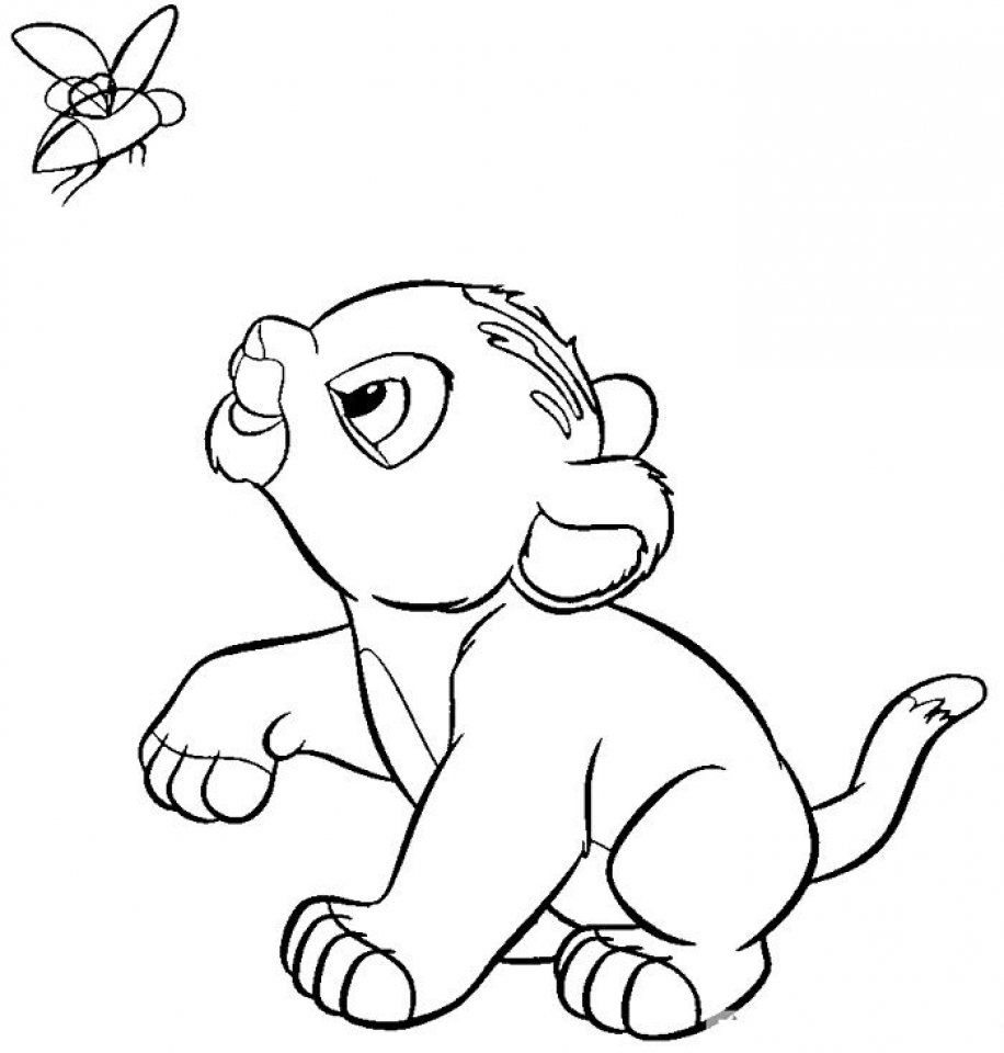baby lion coloring pictures get this lion cub coloring pages for kids 36658 coloring lion baby pictures