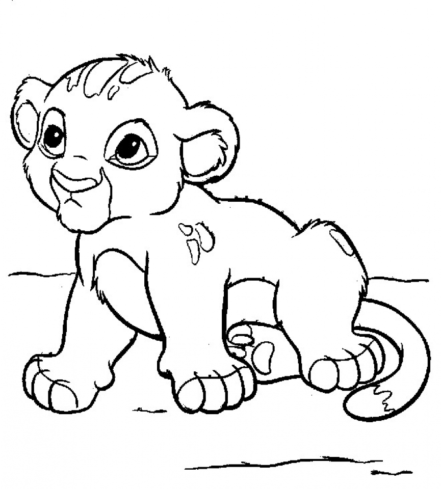 baby lion coloring pictures kids page baby lion cub for kids 139274 coloring pages coloring pictures lion baby