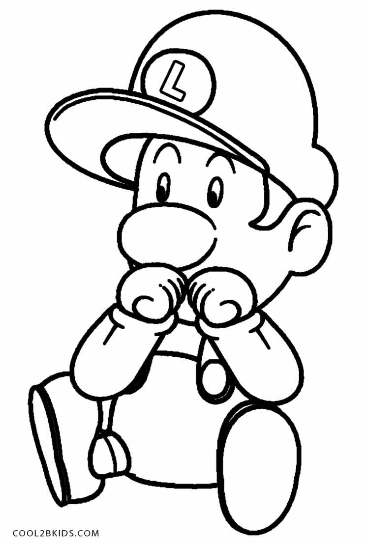 baby luigi pictures printable luigi coloring pages for kids pictures baby luigi