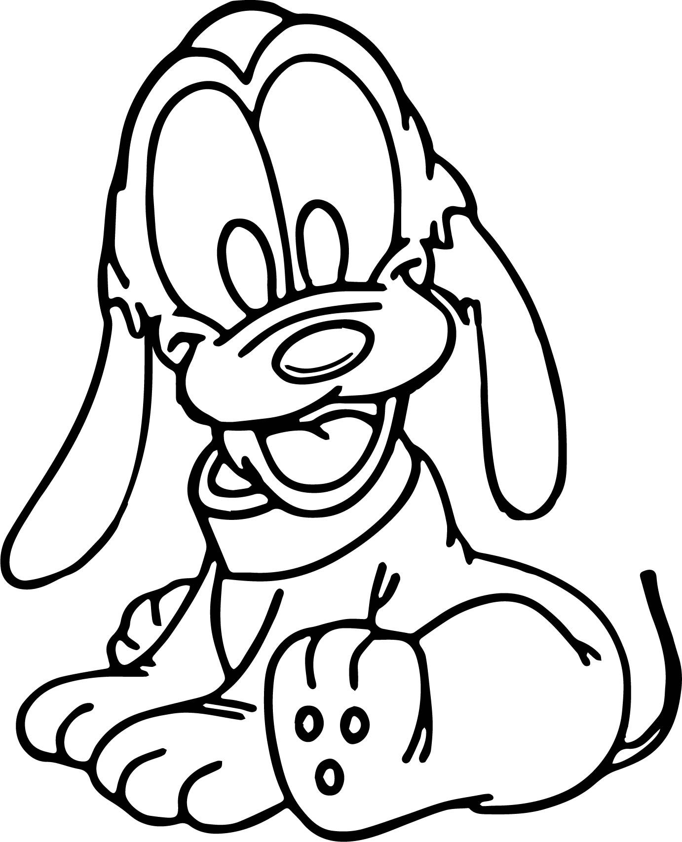 baby pluto coloring pages sitdown baby pluto coloring page pluto baby coloring pages