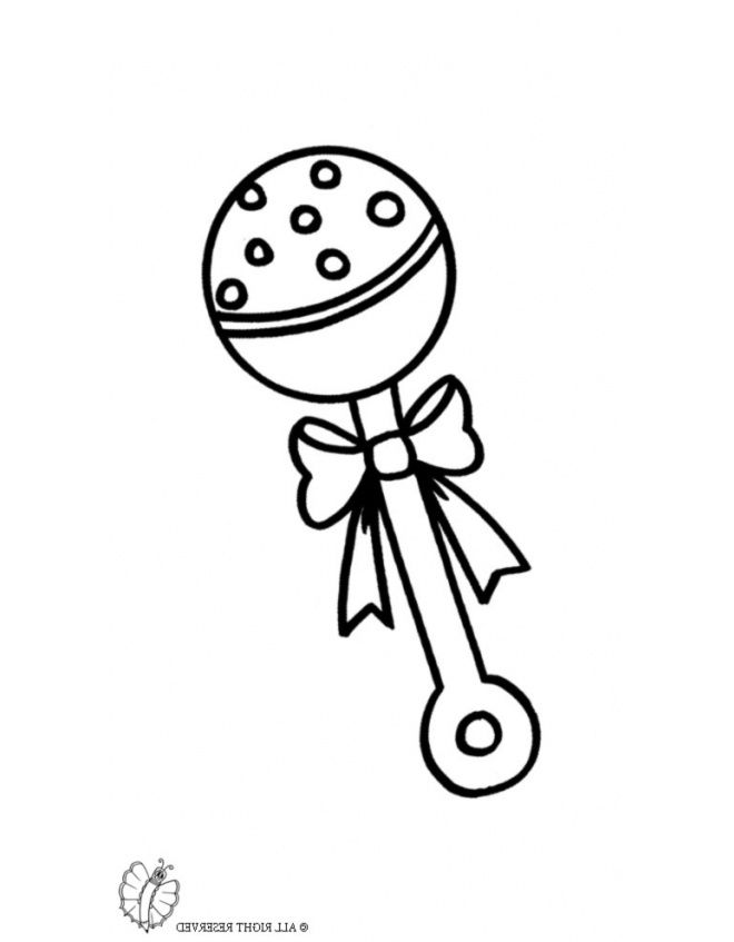 baby rattle coloring page baby bottle coloring page at getcoloringscom free coloring page baby rattle