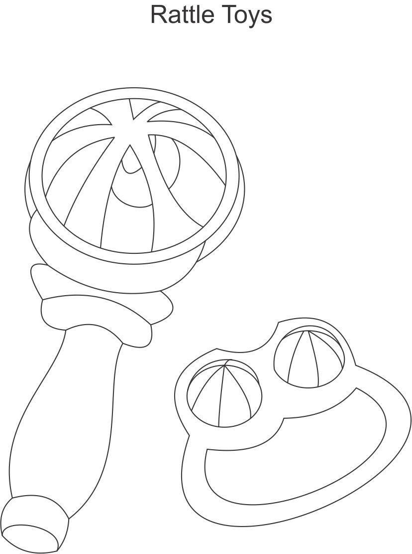 baby rattle coloring page baby rattle clip art black and white sketch coloring page rattle baby page coloring
