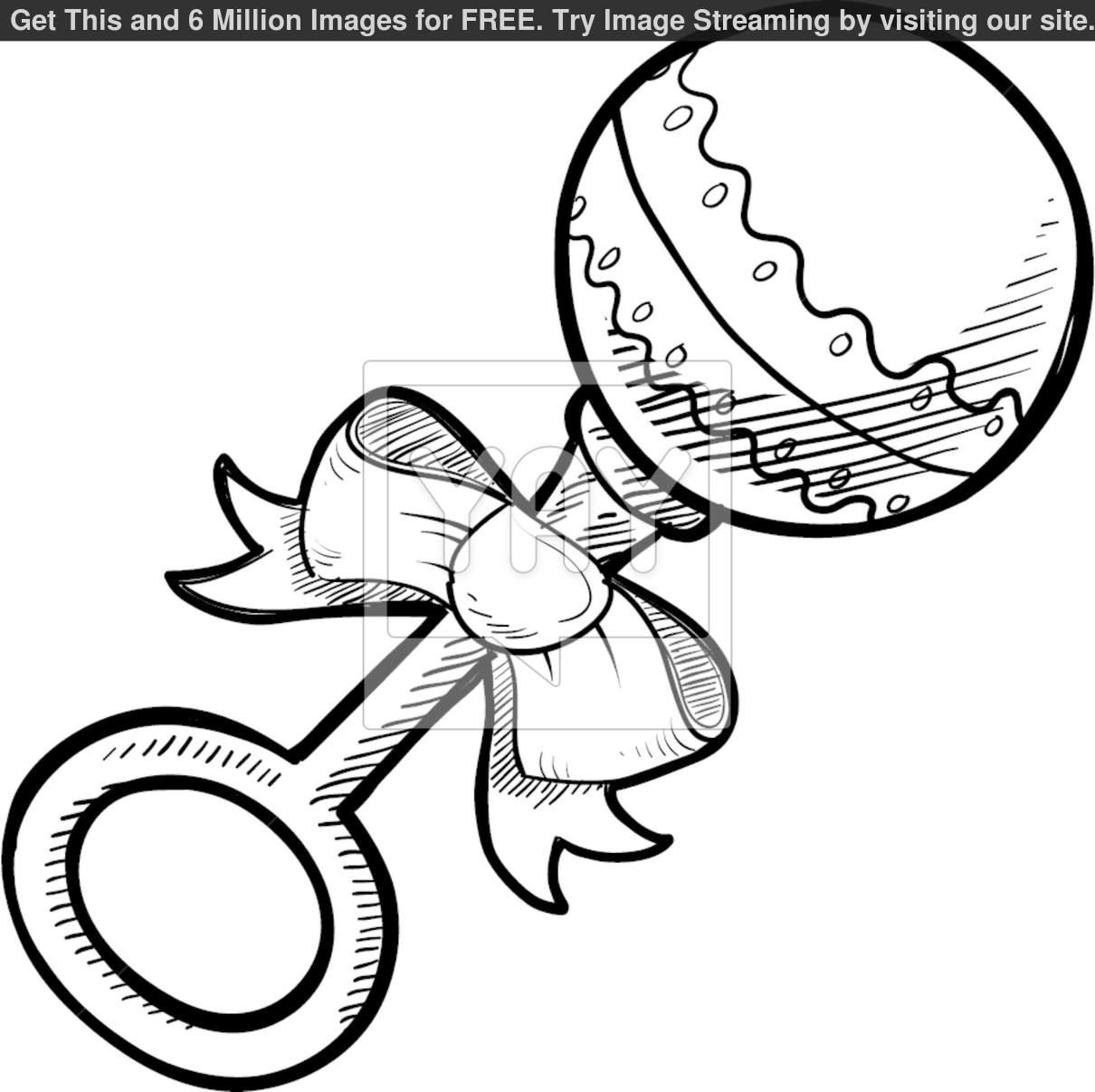 baby rattle coloring page baby rattle drawing free download on clipartmag page coloring baby rattle
