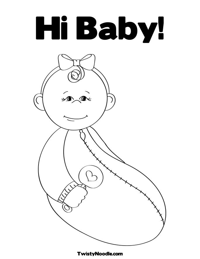 baby rattle coloring page the best free baby coloring page images download from page baby rattle coloring
