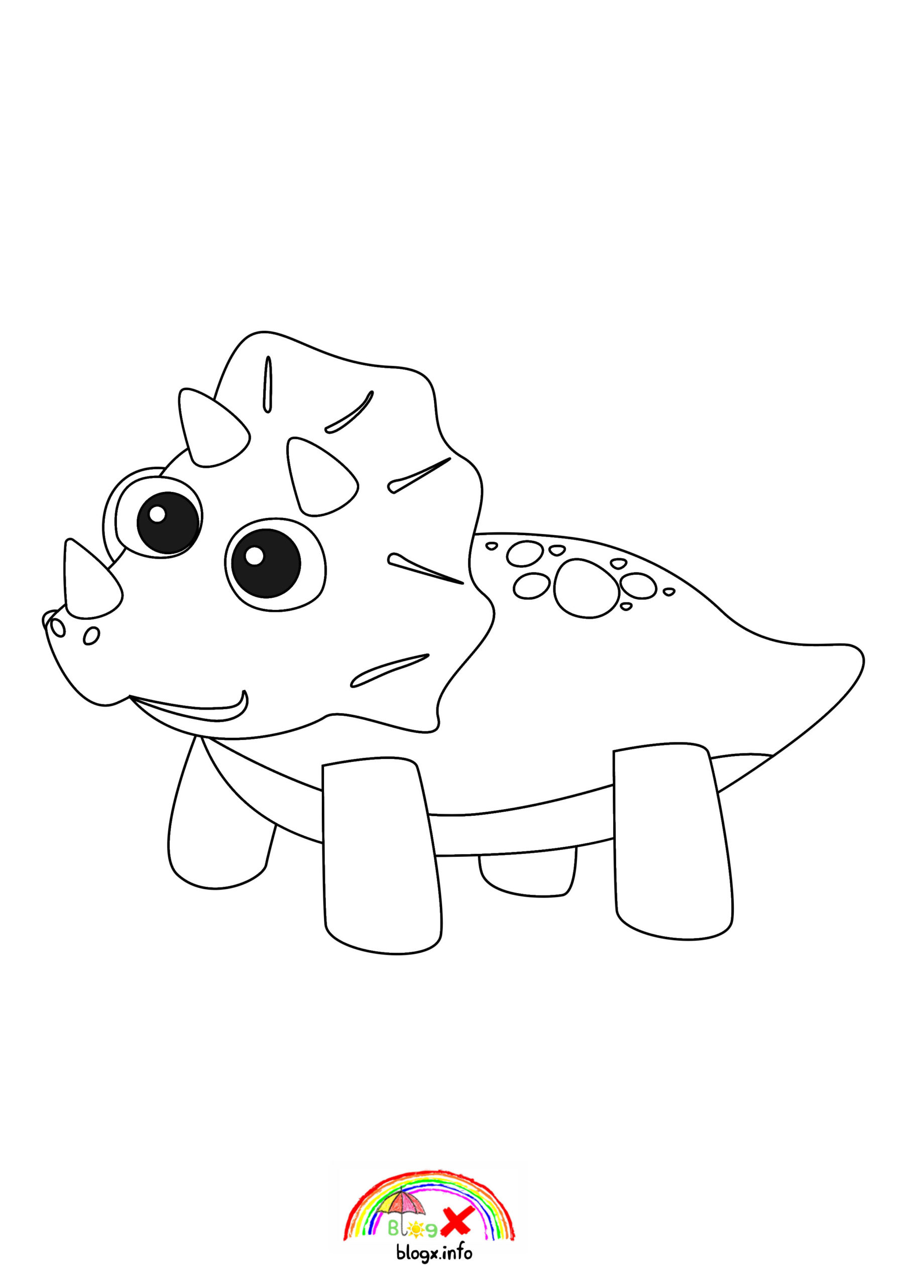 baby triceratops coloring page cartoon clipart of a black and white baby triceratops triceratops page coloring baby
