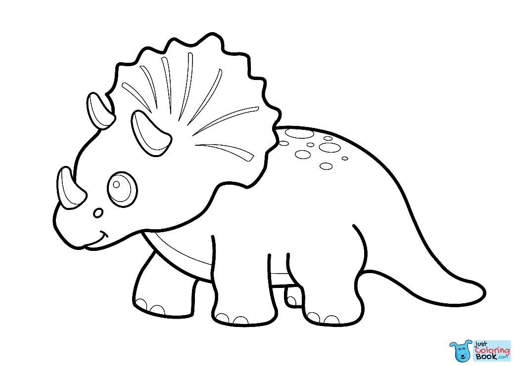baby triceratops coloring page cartoon triceratop coloring pages dinosaur coloring coloring baby page triceratops