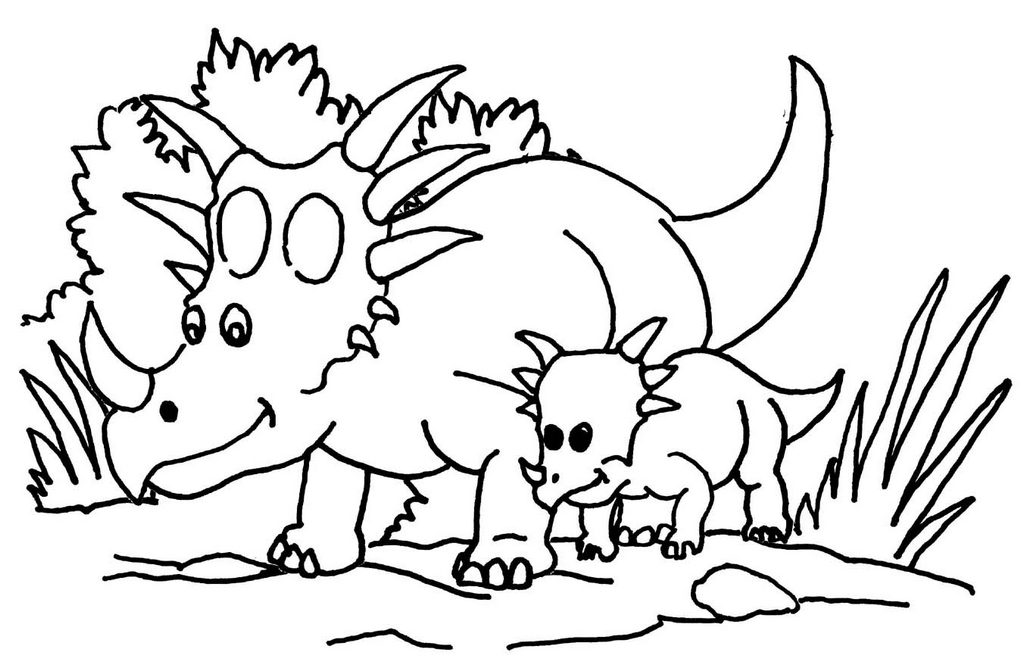baby triceratops coloring page cartoon triceratops and baby coloring page page baby coloring triceratops