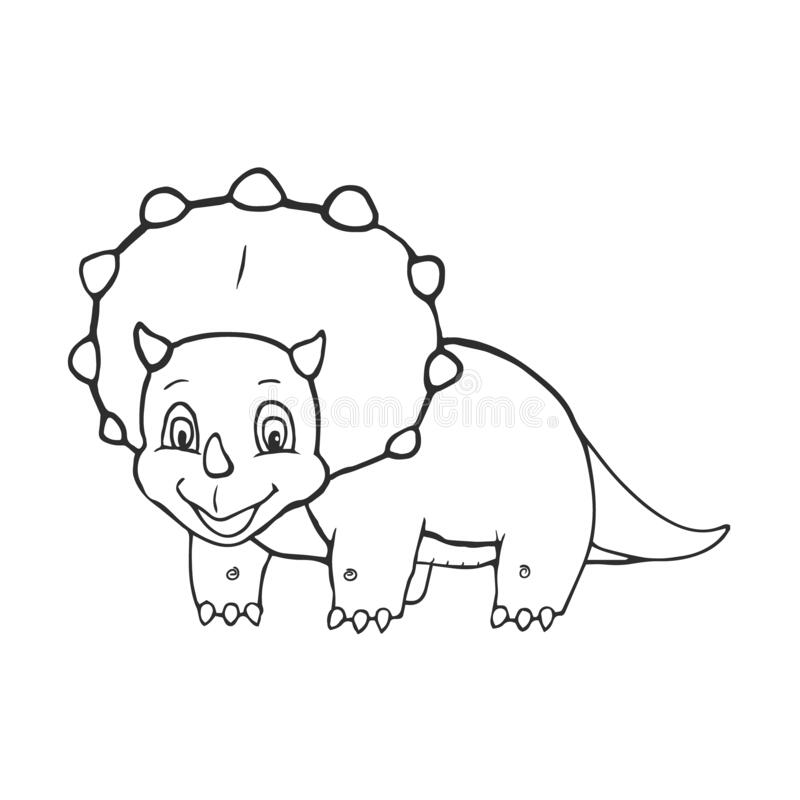 baby triceratops coloring page triceratops dinosaur vector stock vector illustration of triceratops page coloring baby