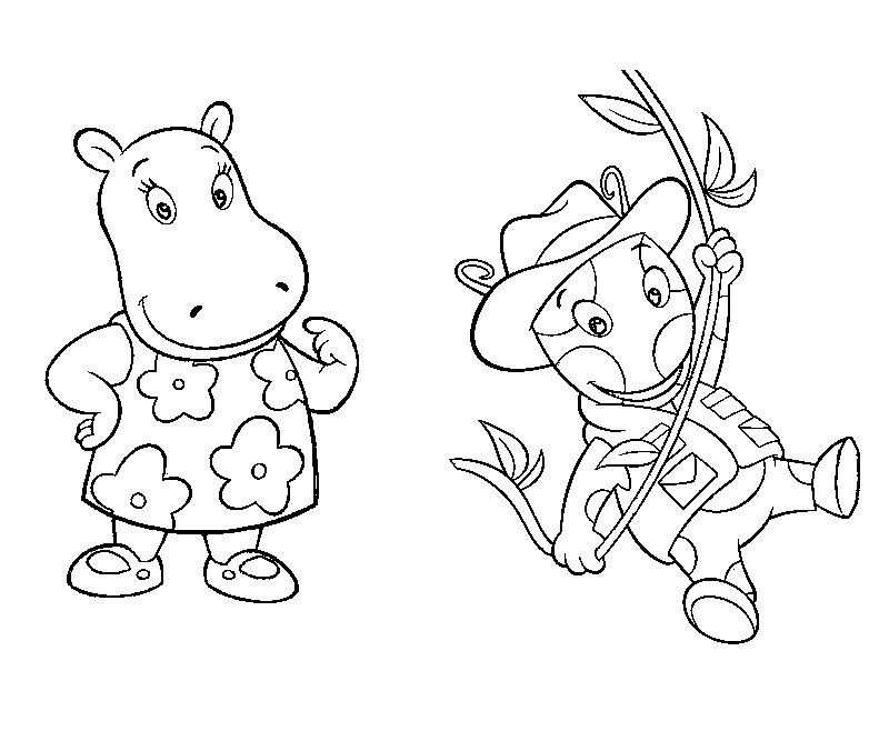 backyardigans coloring pages tasha play baseball in the backyardigans coloring page backyardigans pages coloring
