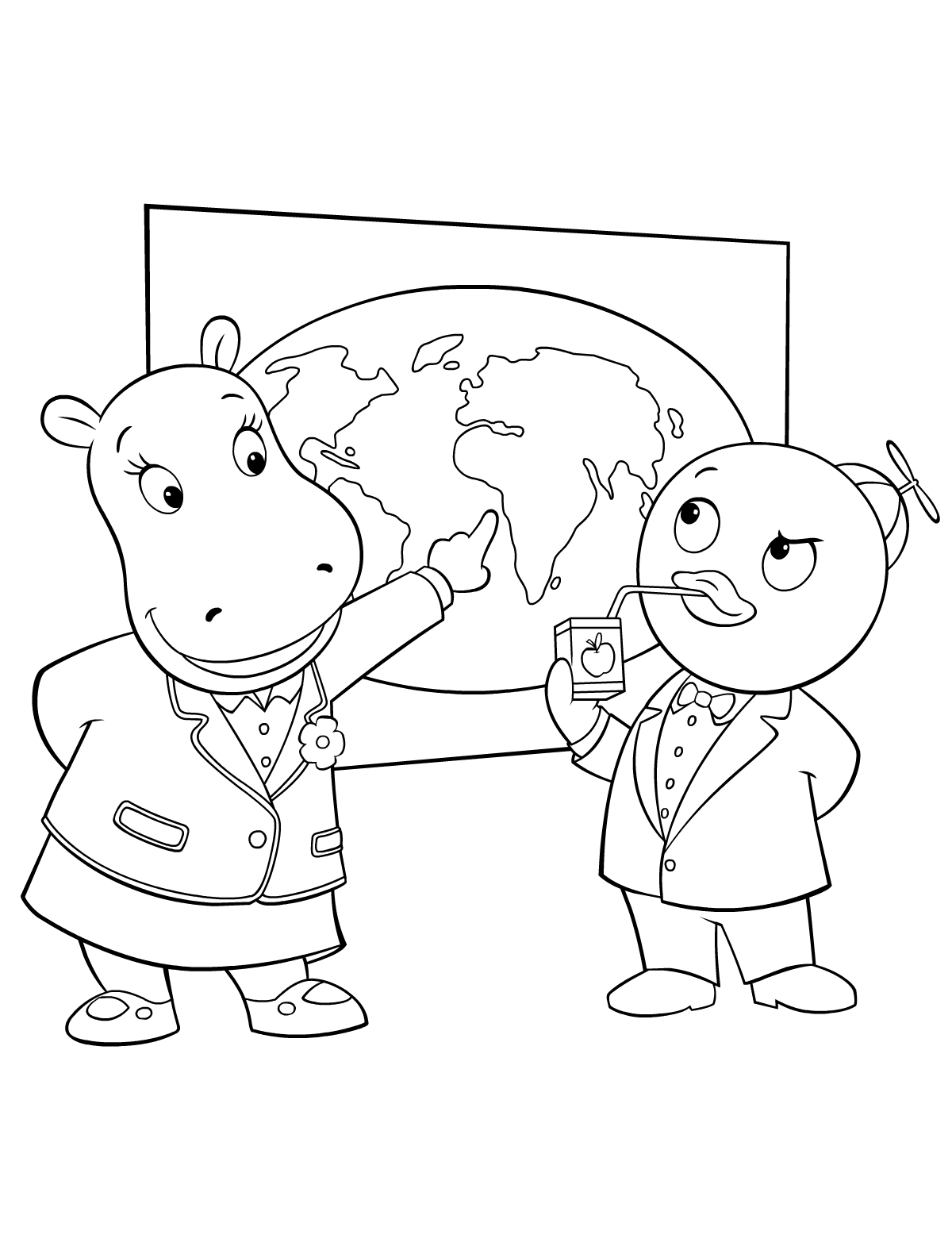 backyardigans coloring pages tyrone and uniqua from the backyardigans coloring page backyardigans coloring pages