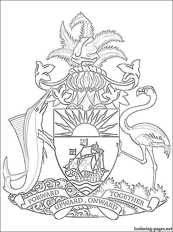 bahamian flag coloring page colouring book of flags north american and the caribbean page bahamian coloring flag