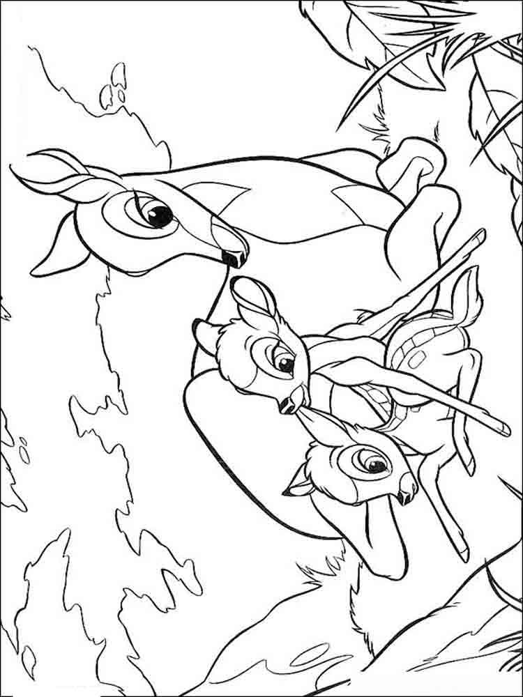 bambi coloring page bambi coloring pages download and print bambi coloring pages coloring bambi page