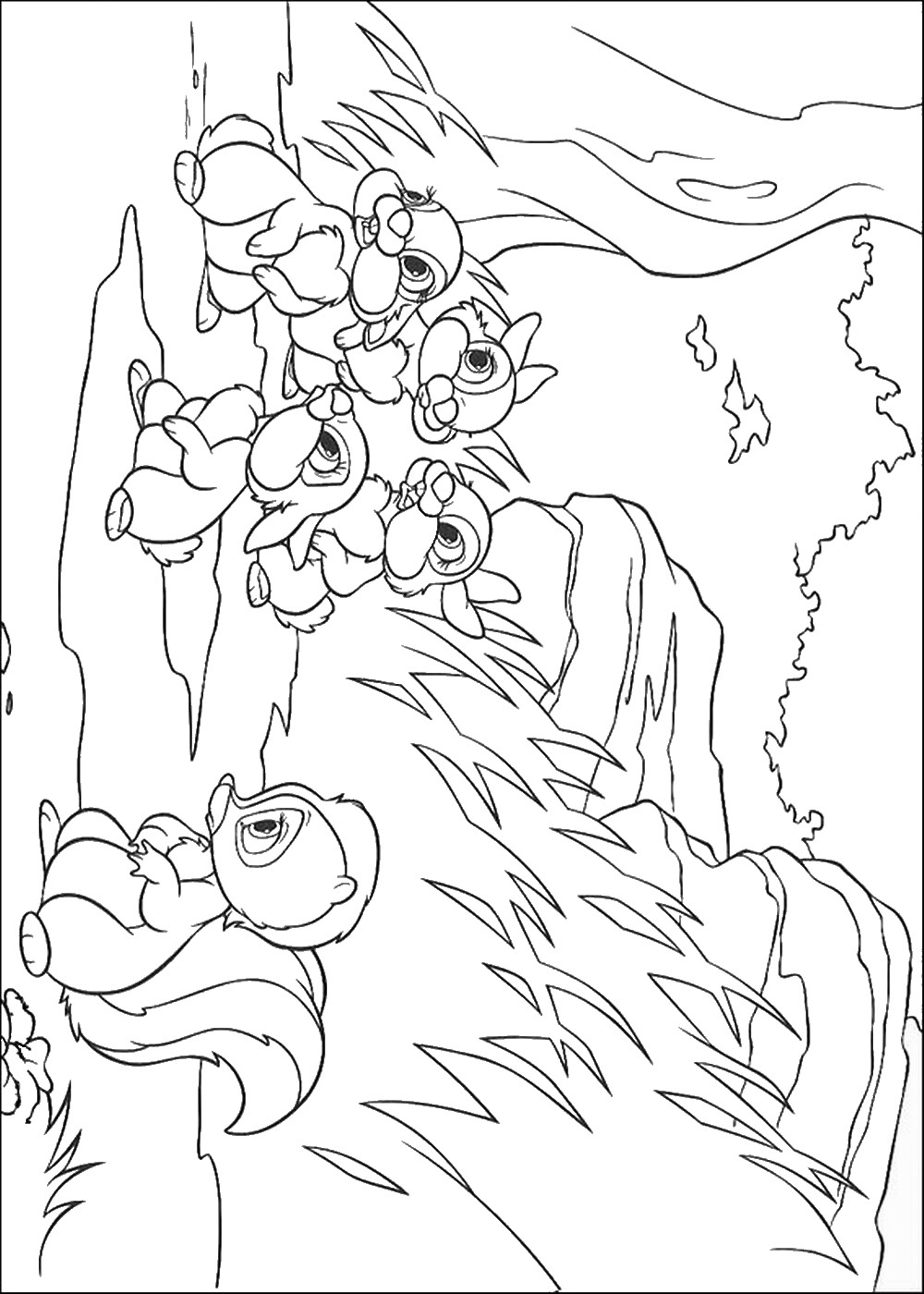 bambi coloring page coloring page of bambi and thumper bambi thumper bambi coloring page