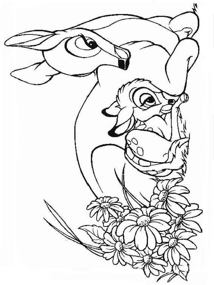 bambi coloring page printable bambi coloring pages for kids cool2bkids page coloring bambi