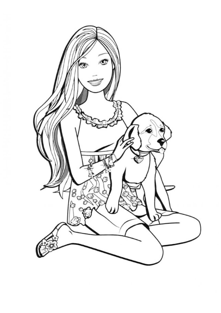 barbie and dog coloring pages 30 free printable cute dog coloring pages scribblefun and dog pages barbie coloring