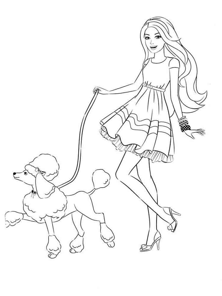 barbie and dog coloring pages barbie and dog coloring pages barbie dog pages and coloring