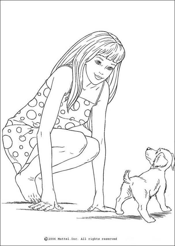 barbie and dog coloring pages barbie coloring pages barbie and dog coloring page dog and coloring barbie pages