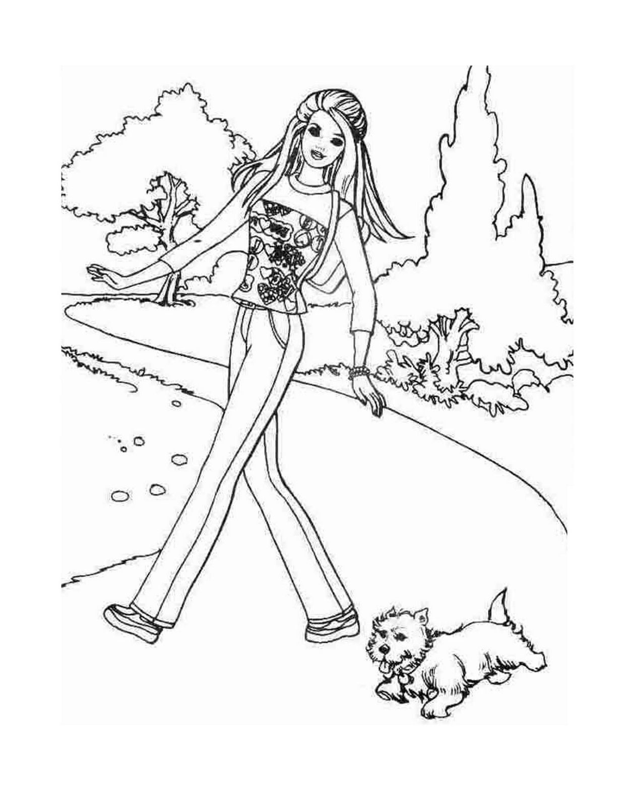 barbie and dog coloring pages barbie dog coloring pages at getcoloringscom free barbie dog coloring and pages