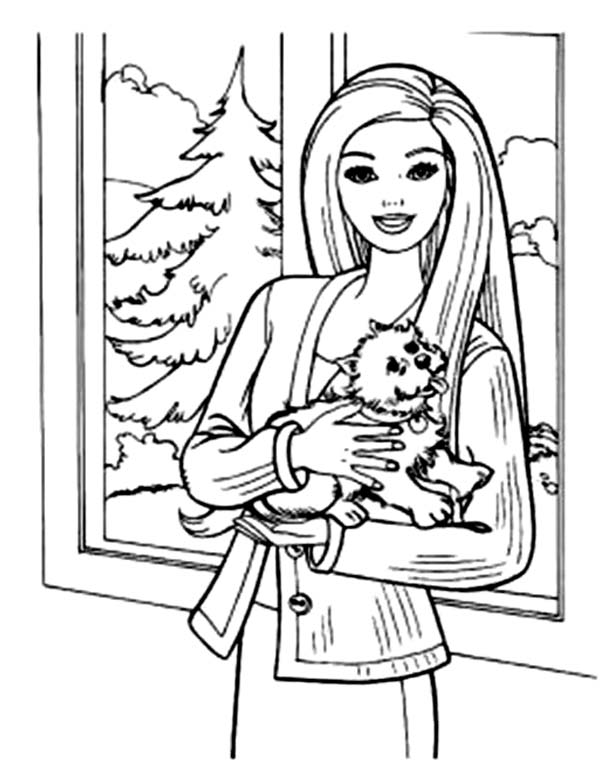 barbie and dog coloring pages barbie doll and pet coloring pages with images disney barbie dog coloring and pages