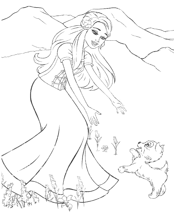 barbie and dog coloring pages barbie39s dog coloring pages hellokidscom and pages coloring dog barbie