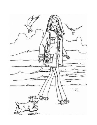barbie and dog coloring pages best coloring page dog puppy pictures to color barbie coloring dog and pages