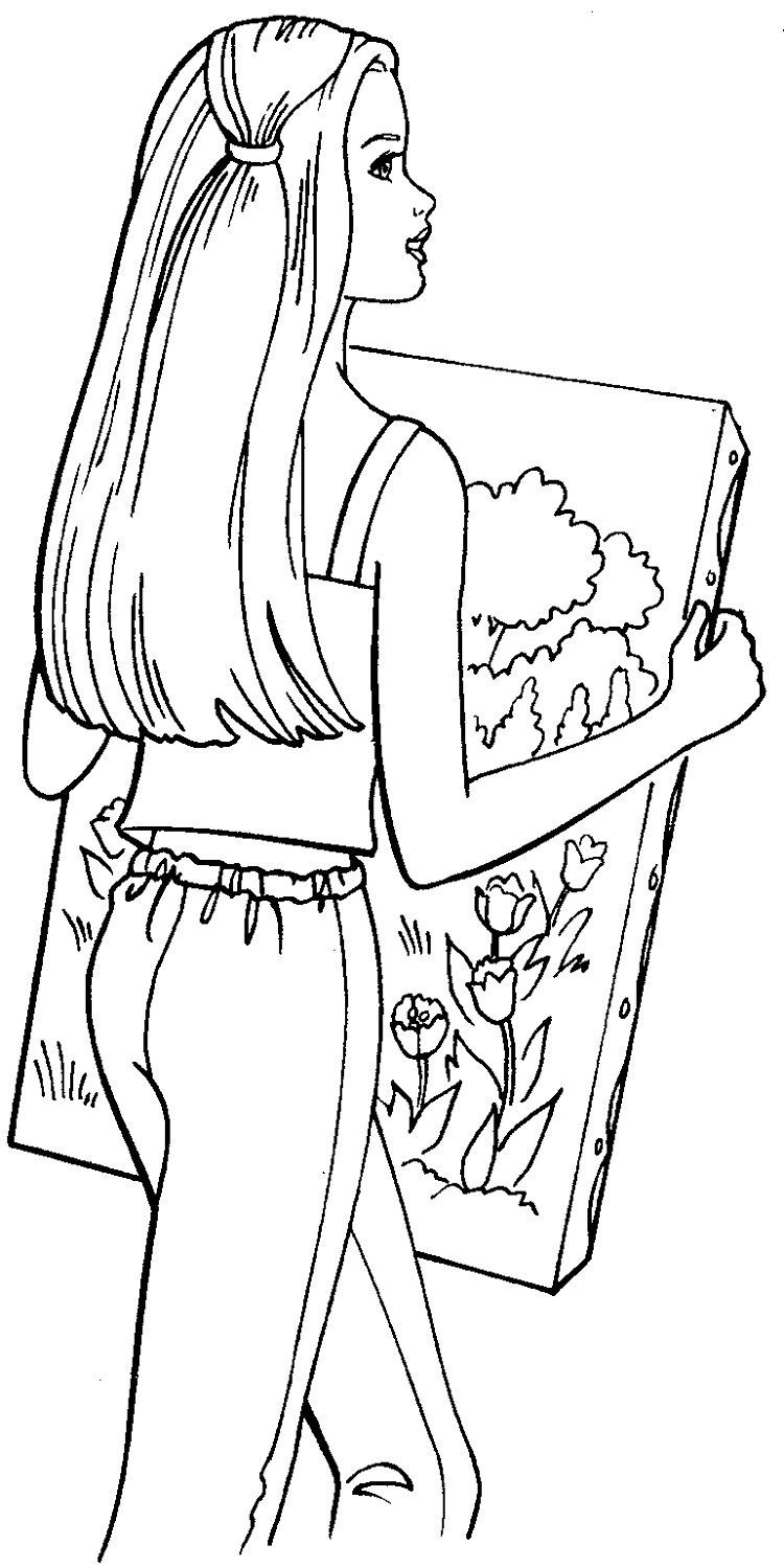 barbie and dog coloring pages coloring page barbie walk the dog coloringme dog barbie coloring pages and