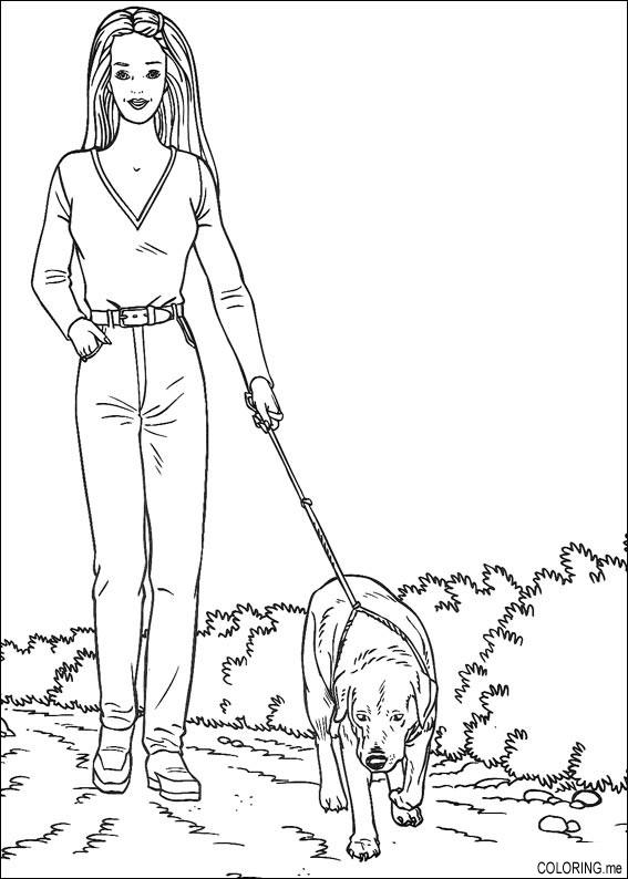 barbie and dog coloring pages free kids coloring barbie coloring 16 barbie and dog pages coloring