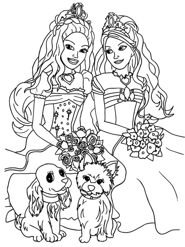 barbie and dog coloring pages pin by micki foster on dogs barbie coloring pages horse barbie coloring and pages dog