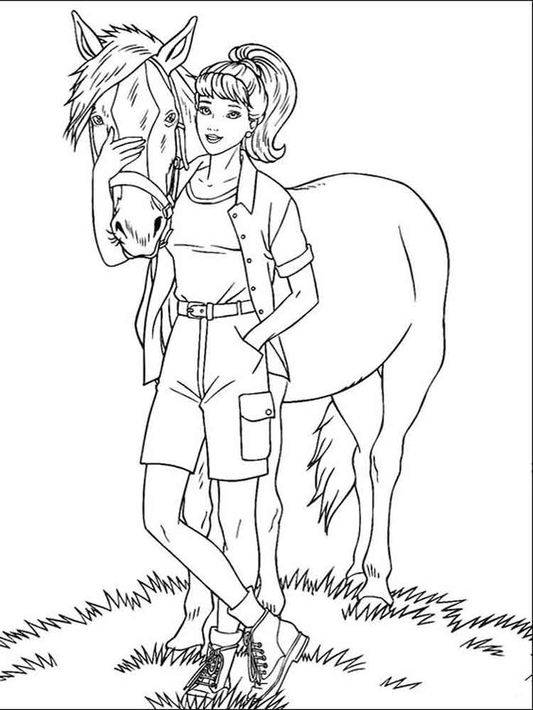 barbie pony coloring pages barbie doll riding horse coloring page coloring sun barbie pony pages coloring