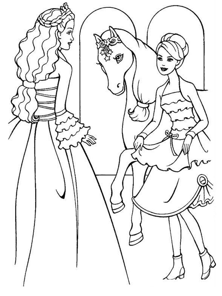 barbie pony coloring pages barbie horse coloring page coloring home coloring pony barbie pages
