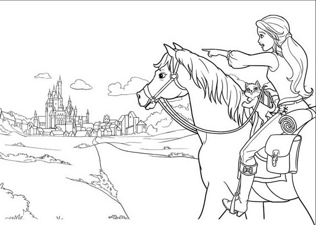 barbie pony coloring pages barbie horse coloring page coloring home pony barbie pages coloring