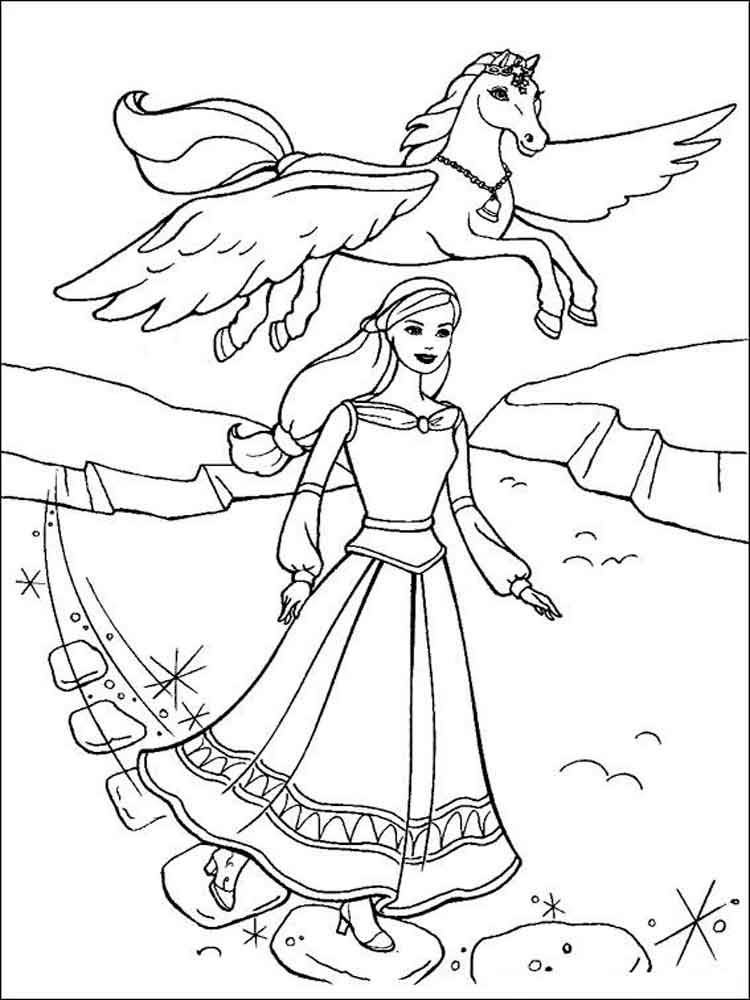 barbie pony coloring pages barbie horse coloring pages free large images pony barbie pages coloring