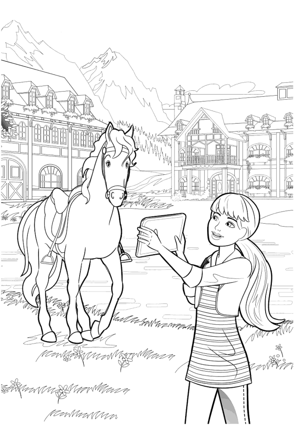 barbie pony coloring pages barbie horse riding coloring pages for you coloring barbie pages pony