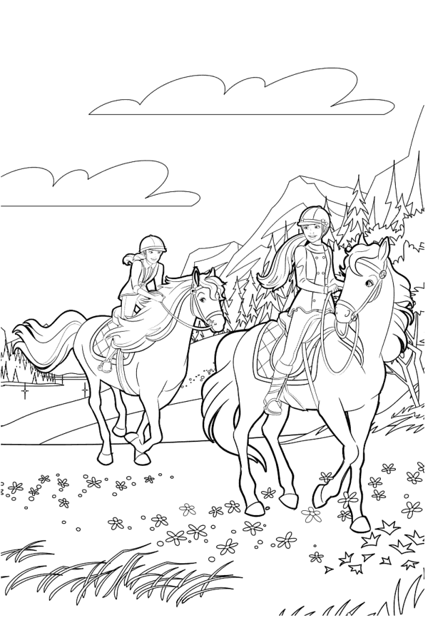 barbie pony coloring pages barbie pony coloring pages pages coloring barbie pony