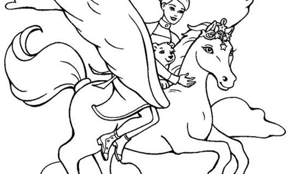 barbie pony coloring pages disney coloring pages barbie princess and a magic horse barbie pony pages coloring