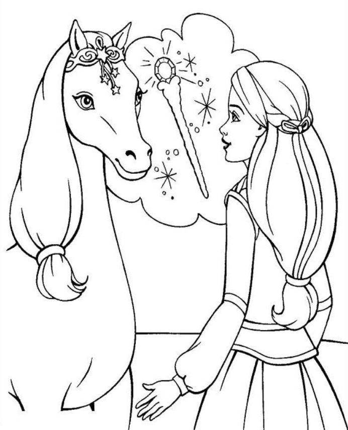 barbie pony coloring pages disney coloring pages barbie princess and a magic horse pages coloring barbie pony