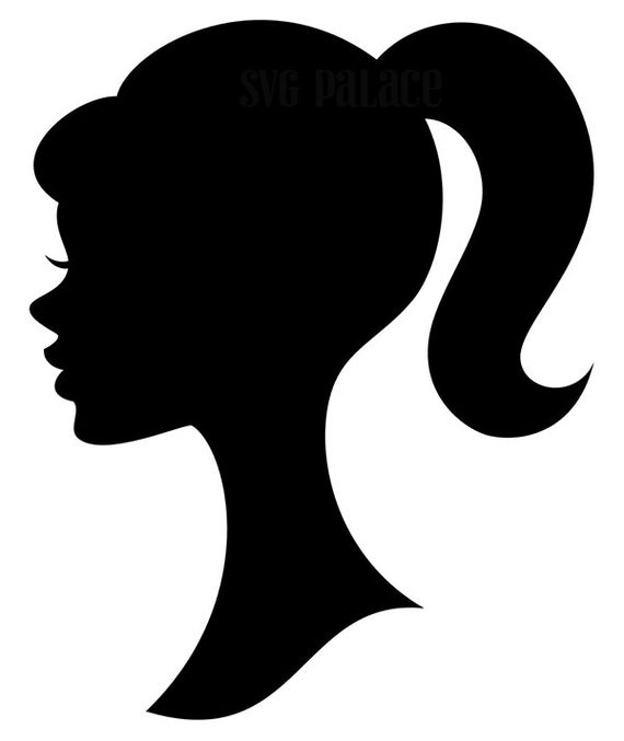 barbie silhouette 36 black 3 inch barbie silhouette die cut 36 etsy barbie silhouette