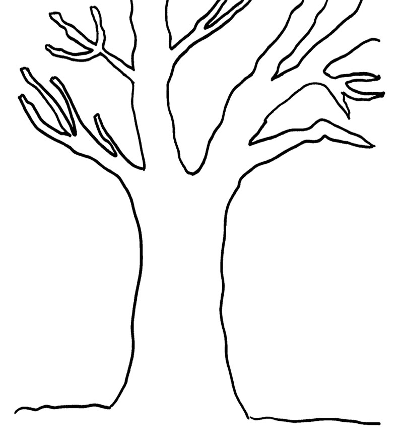 bare tree template bare tree clipart black and white free download on tree template bare