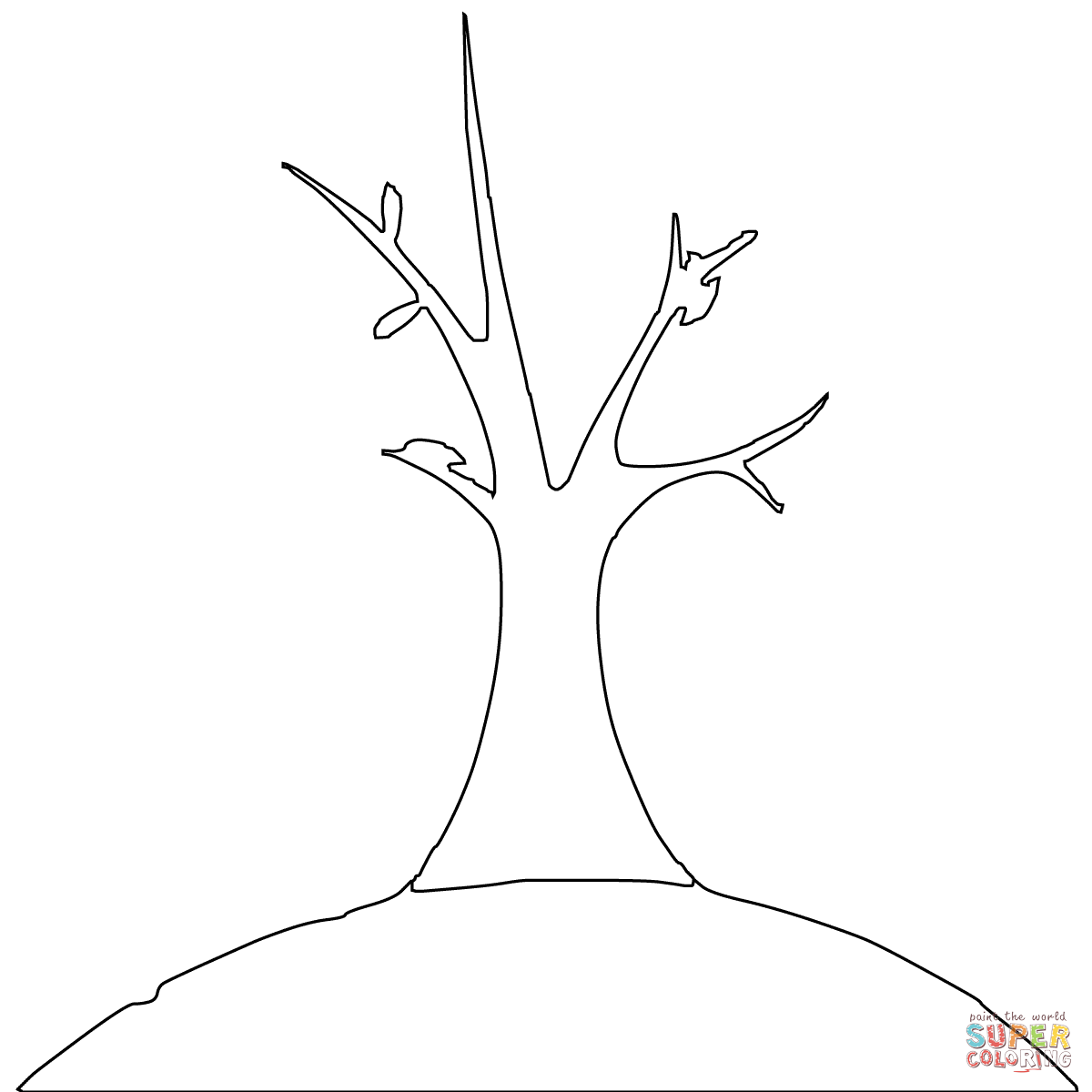 bare tree template bare tree colouring in clipart best template tree bare
