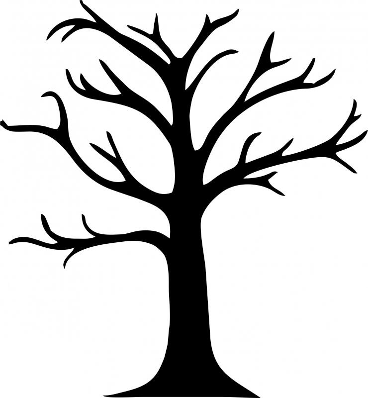 bare tree template impression obsession die bare tree impression bare template tree