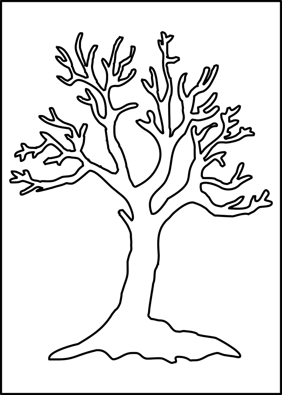 bare tree template leafless tree png leafless tree outline printable bare bare template tree