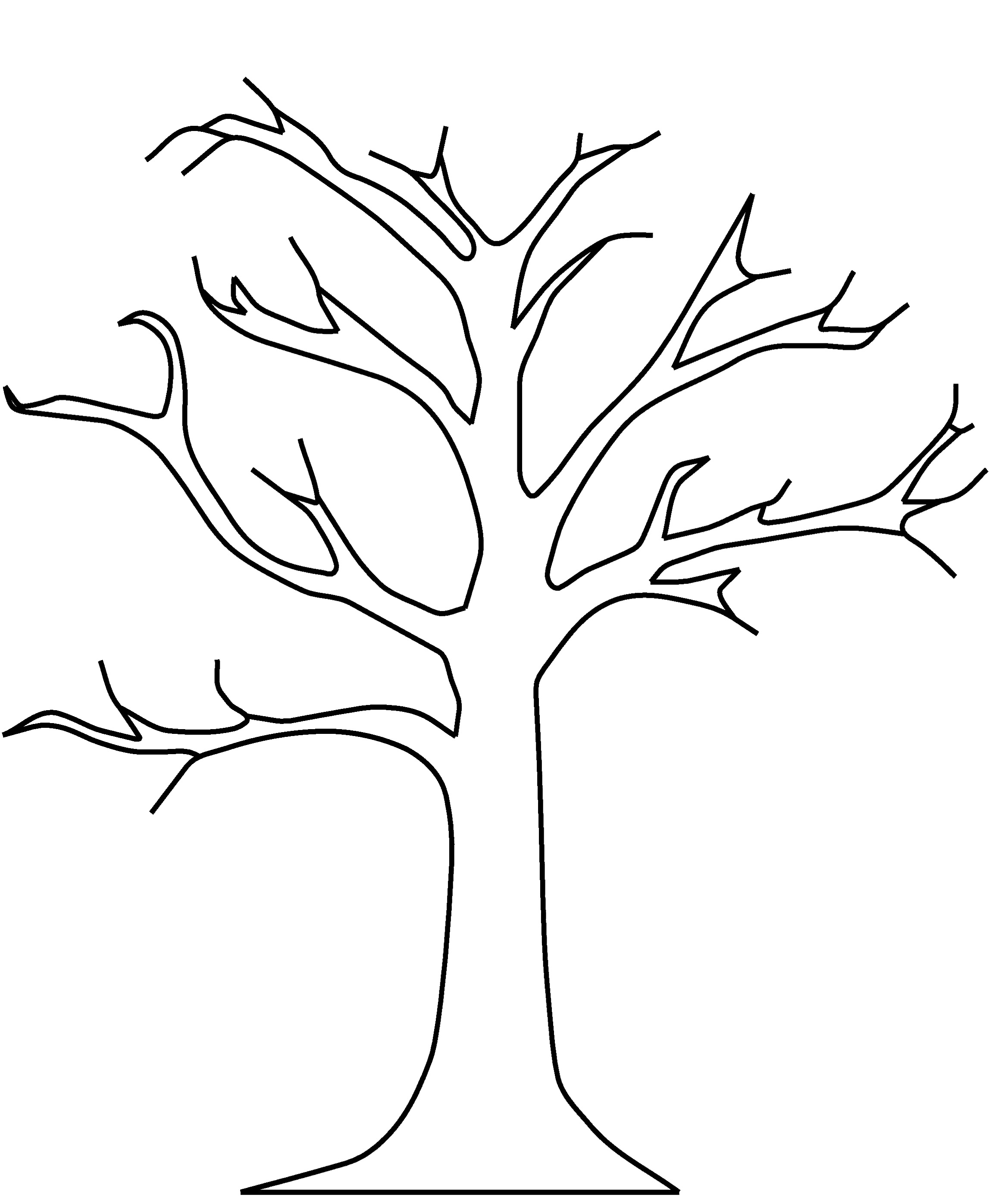 bare tree template silhouette of bare tree outline illustrations royalty tree bare template
