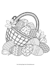 basket of easter eggs coloring page basket of easter eggs coloring page of basket eggs coloring easter page