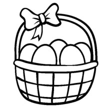 basket of easter eggs coloring page coloring pages easter baskets clipart best eggs basket page easter coloring of