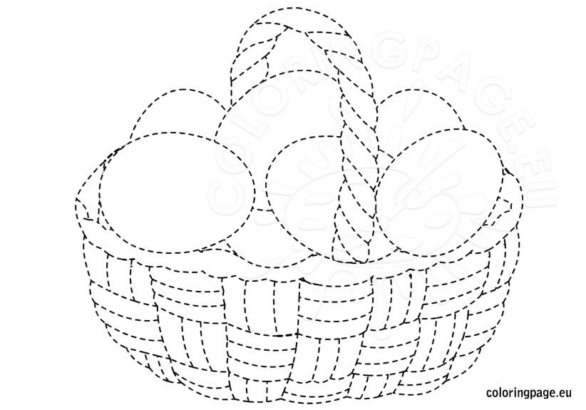 basket of easter eggs coloring page easter basket coloring pages best coloring pages for kids of coloring easter basket page eggs